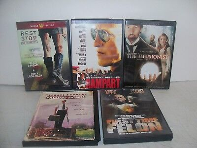 Rampart, Rest Stop,First Time Felon,The Illusionist,Falling Down DVDs Movies