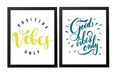 Inspirational Positive vibes Thoughts Picture Poster Print Motivational Wall Art