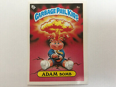 1985 UK Garbage Pail Kids 1st Series Card : 8a ADAM Bomb : Checklist