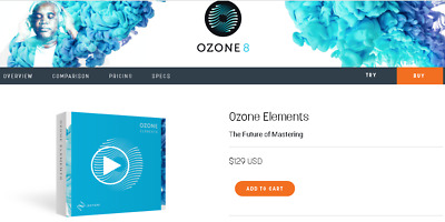IZOTOPE Ozone 8 Elements | Genuine Download License | Register w/ IZOTOPE