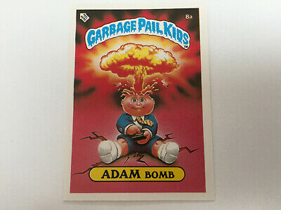 1985 UK Garbage Pail Kids 1st Series Card : 8a ADAM Bomb : Cheaters License