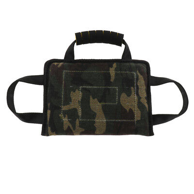 3 Handles Canvas Bite Pillow Tug Toy for Training Young Dog Puppy Camouflage