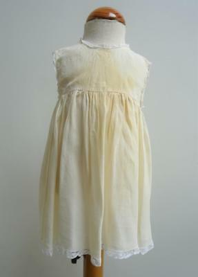 Vintage 1920s Baby's Petticoat - Cream Crepe & Lace Trimmed Under Dress