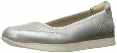 bbc9f876cbb Naturalizer Women s Junction Slip On Wedge Loafer Shoes Silver Size 5.5 ...