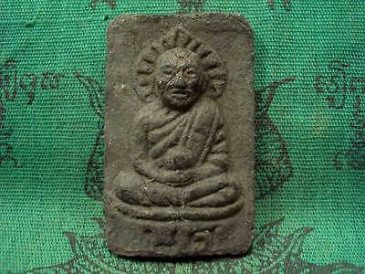 Phra LP Tuad Herb Powder Wat Phakho Powerful Magic Protect Thai Buddha Amulet