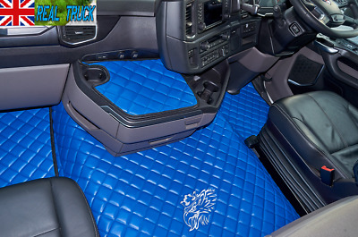 Scania R Series New Generation [ 2017 + ] Truck Eco Leather Floor Set -Blue