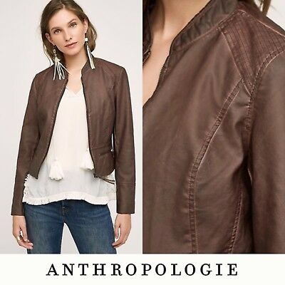 ef0b1a9be ANTHROPOLOGIE DARA VEGAN Leather Jacket by Hei Hei Size S - $149.95 ...