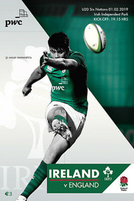 Ireland U20 v England U20 - Rugby Union 6 (Six) Nation's - 01 February 2019