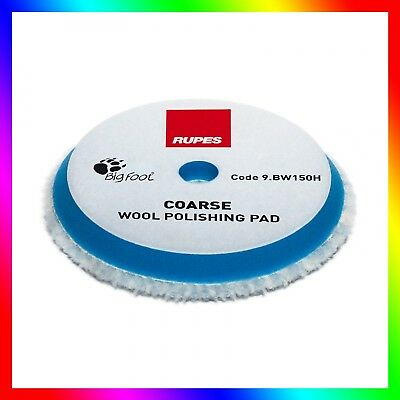 RUPES Big Foot Wool Polishing Pad Coarse (150mm) Plush natural fibers Heavy-cut
