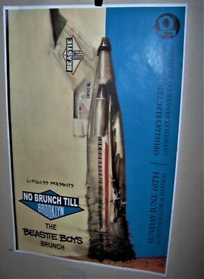 BEASTIE BOYS License To Ill No Brunch Till Brooklyn Event Poster Denver Co COOL