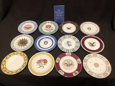 Woodmere China White House Dessert Collection Plates Set 12 Complete