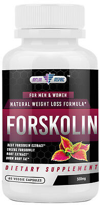 Forskolin Extract - 500mg - Promotes Weight Loss - Diet Pills - Burn Body Fat