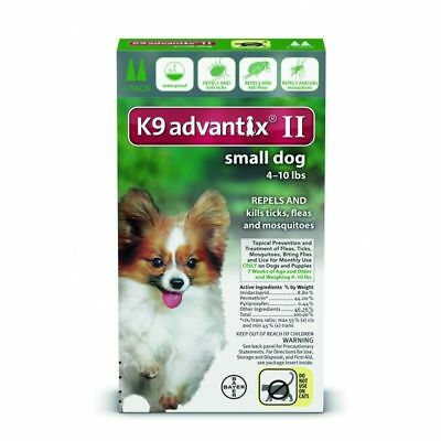 K9 Advantix II for Small Dogs 4-10 lbs. Two Month
