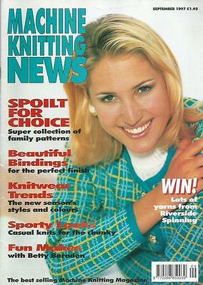 Vintage Machine Knitting News - September 1997
