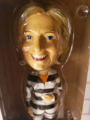 Trump Campaign Souvenir - 2016 Hillary Clinton for Prison Bobble Head Doll