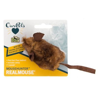 OurPets Mouse Hunter Pet Cat Toy Keep Kitty Happy and Healthy Play Real Catnip