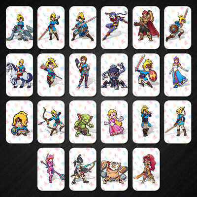 22Full Set NFC PVC Tag Card ZELDA BREATH OF THE WILD WOLF LINK For amiibo Switch