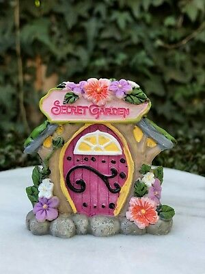 Miniature Dollhouse FAIRY GARDEN Gnome ~ MINI Camping Welcome to the Lodge Door