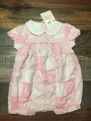 397ac0aaedf NEW Janie and Jack Baby Girl Patchwork Bubble Poodle Romper 3-6Months NWT