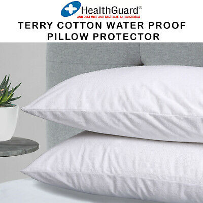 Renee Taylor Pillow Protectors Waterproof Super Soft Cotton Terry - Twin Pack