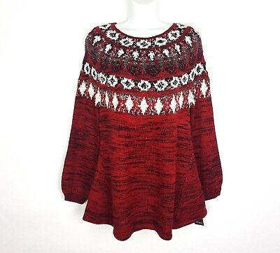1a1959e400f STYLE   CO. Womens Fair Isle Space Dyed Pullover Sweater Plus BHFO ...