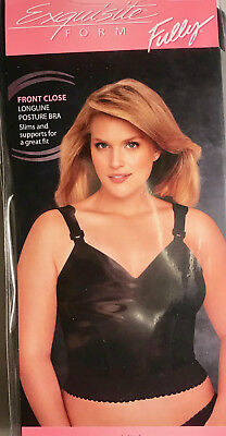 f6b14204412 Exquisite form Womens fully FRONT CLOSED longline bra NEW 44C style 510-7530