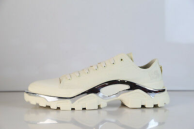 best service 29f68 233f0 Adidas RS Raf Simons Detroit Runner Cream Chalk Chrome F34242 8-12