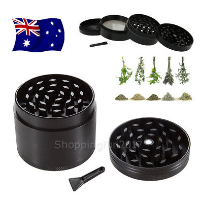 NEW Metal Zinc Alloy Tobacco Herb Grinder 4-Layers Hand Muller Smoke Crusher