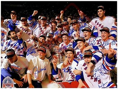 8.5x11 Autographed Signed Reprint RP Photo New York Rangers Stanley Cup 1994