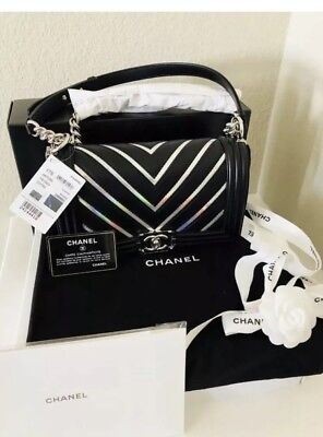 New Gorgeous Authentic Chanel Flapbag Black White With Tags Limited Ed.