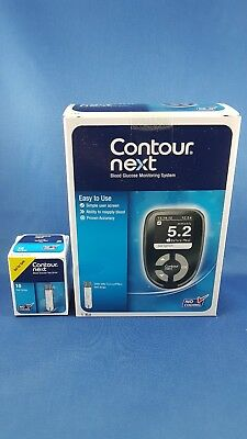 NEW BAYER CONTOUR NEXT Blood Glucose Meter with Kit FREE 10