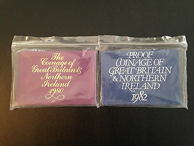 1980 and 1982 Proof Coinage Of Great Britain & Ireland The Royal Mint Proof Set