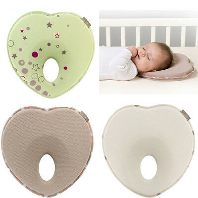 Newborn Baby Anti Memory Foam Pillow Flat Head Neck Prevent Infant Support US