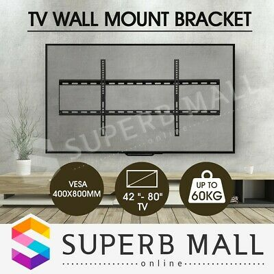 42-80 Inch TV Bracket LCD LED Screen VESA Plasm Slim Flat Wall Mount Load 60KG
