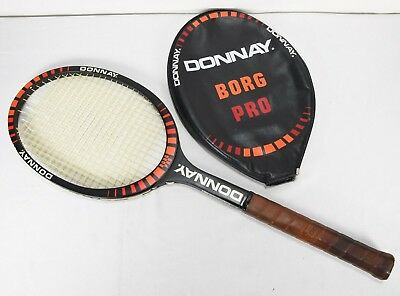 Donnay Borg Pro Tennis Racket Light 4 Very Stiff shaft with cover 4 1/2 Grip