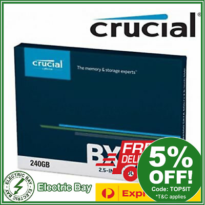 "New Model Crucial BX500 240GB 2.5"" SATA Internal Solid State Drive SSD 540Mb/s"