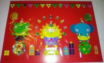 Papyrus Circus Happy Birthday Frog Lion Elephant Balloons Presents Juggling