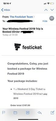Wireless FRIDAY TICKET SOLD OUT EVERYWHERE!