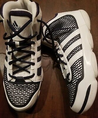 buy online 50455 95a35 Adidas adiPure Mens Basketball Shoes Size US 17 M navy and white G48317