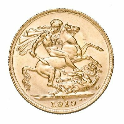 1919 King George V Perth Mint Gold Sovereign