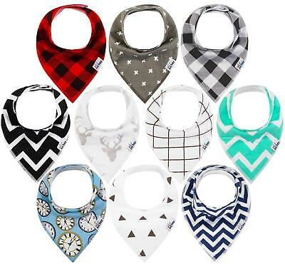 Baby Bandana Drool Bibs for Teething/Drooling Random Delivery Color 10pcs/Pack