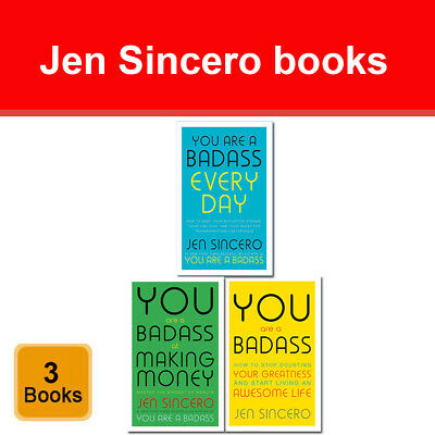 Jen Sincero You Are a Badass 3 books collection set Every Day, Making Money NEW