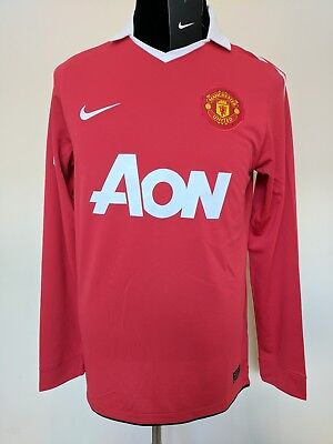 2010 2011 Manchester United Man Utd long sleeve home football shirt 18 Scholes