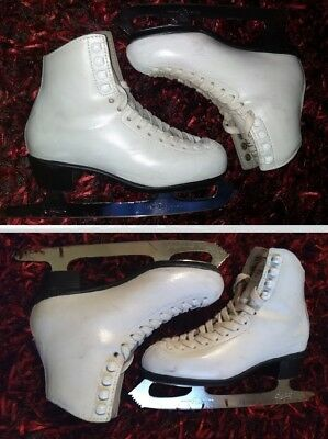 Ice Figure Skates RISPORT Made in Italy Size 34 EU 3 US with MK Club 2000 blades