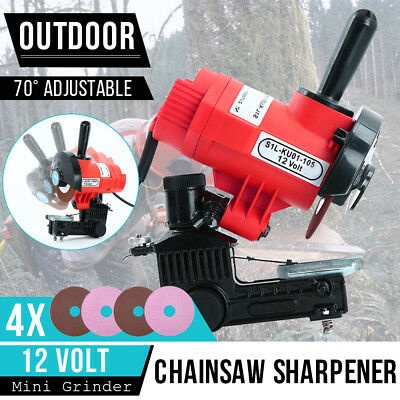 Portable Chainsaw Sharpener Chain Saw Bench Mount Electric Grinder Pro Tool 12V