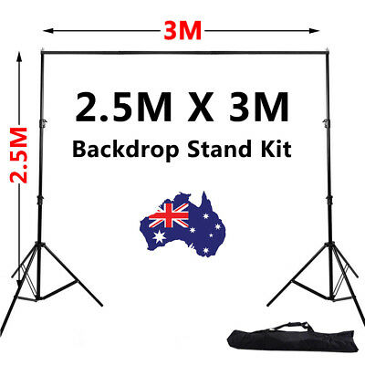 Heavy Duty Photo Photography Studio Background Backdrop Stand Kit with Free Bag