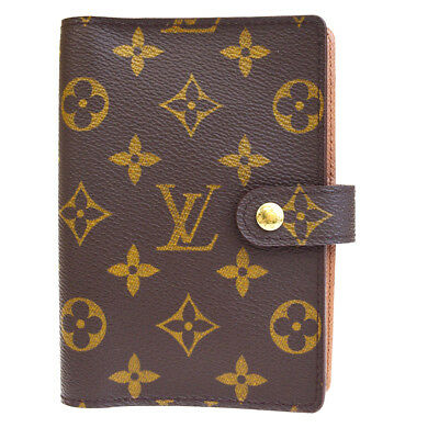 Auth LOUIS VUITTON Agenda PM Day Planner Cover Monogram Brown R20005 01BG388