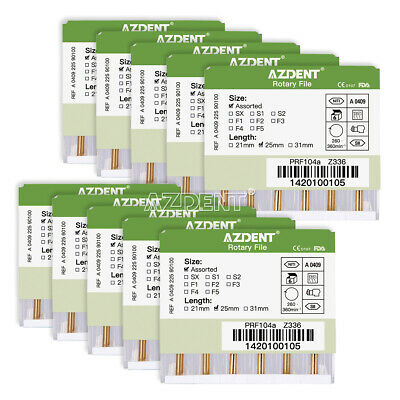 10X Dental Endodontic NITI Files For Root Canal Treatment Engine Use SX-F3 25mm