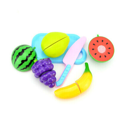 Kids Role Play Kitchen Wooden Fruit Vegetable Food Cutting Toy Set