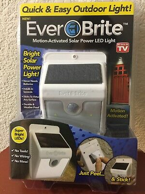 As Seen On Tv Outdoor Led Motion Light, Motion Activated Solar Activated, Sealed